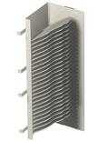 Блок OMX600® для установки до 24 сплайс-колёс, ориентация: left, цвет: putty white