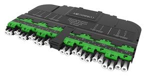 Модуль EHD 12LC APC Duplex/2xMPO12(m) Key Up, SM, выравнивающие штырьки: да, цвет: зелёный