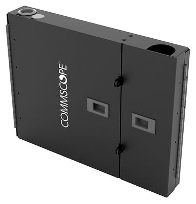 Настенный монтажный бокс серии WB2 на 2 кассеты G2 двусекционный с дверцами, ВхШхГ: 280х330х64