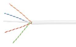 Кабель 4-парный U/UTP Cat.6A, 23 AWG, оболочка: LSZH, EuroClass Dca, диаметр: 7,24, NVP 66%, -20-+60 грд, цвет: ,белый, уп.: катушка 1000 м
