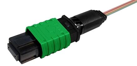 Разъём TeraSPEED® QWIK-FUSE MPO12/APC без штырьков для полевой установки на ленточное волокно