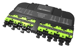Модуль EHD ULL 12LC Duplex/1xMPO24(f), OM5, LazrSPEED® wideband, выравнивающие штырьки: нет, пылезащитные заглушки: да, цвет: lime