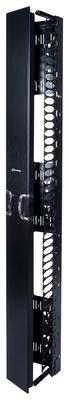 Комплект вертикального кабельного органайзера однстороннего с дверцами; высота мм: 2438; ширина мм: 254; цвет: чёрный
