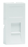 Лицевая панель LF82-262 22,61х45,21 для 1 гнёзда M-серии, со шторкой, цвет: белый
