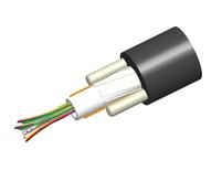 Кабель внешней прокладки, Кол-во волокон: 4, Тип волокна: G.652.D and G.657.A1, TeraSPEED®, Конструкция: центральная трубка с гелем, 2 диэлектрических прутка Rigid RSM, изоляция: PE UV stabilized, диаметр: 10,28 мм, -40 - +70 град. С, цвет: чёрный