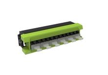 Адаптерная планка 360 G2 6хLC Duplex, iPatch Ready, OM5 LazrSPEED® WideBand , шторки: нет, цвет: lime