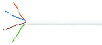 Кабель 4-парный U/UTP Cat.5E, 24 AWG, диаметр: 5,2, оболочка: LSZH, цвет: белый, -20-+60 град., уп.: коробка 305 м