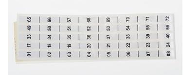 Комплект дверного замка со стандартным ключём для шкафа FIST™ GR3, уп-ка шт: 2 + мракеры для обозначения позиции панели