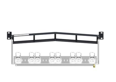 Угловая (recessed) коммутационная панель UCP до 4 модулей Quick-Fit, высота: 1RU
