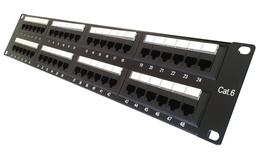 Коммутационная панель 48хRJ45 Cat.6, без кабельной поддержки (SL 110С), высота: 2RU