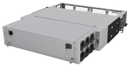 Выдвижная коммутационная панель Systimax Ultra High Density 2RU iPatch® ready до 12 модулей G2, до 144 LC Duulex или до 96 MPO, с фронтальным кабельным органайзером
