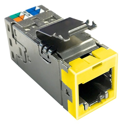Экранированное гнездо RJ45 AMPTWIST SLX, 6AS, цвет: жёлтый