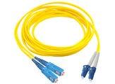 Коммутационный шнур SC/UPC-LC/UPC-дуплексный, SM, оболочка: LSZH, цвет: жёлтый, длина м: 10