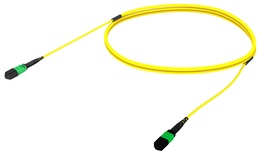 Претерминированный кабель MPOptimate® ULL OS2 G.657.A2 MPO12(m)/MPO12(m), APC, UltraLowLoss, изоляция: Plenum, Полярность: метод А, t=-10-+60 град., цвет: жёлтый, Длина м.: 3