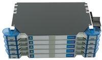 Шасси FACT™ Splice-Patch 240xLC/APC SM и B-grade пигтейлы, поддон для гильз SMOUV, организация кабеля: right-hand patch, цвет: серый, высота: 5E=3.5RU