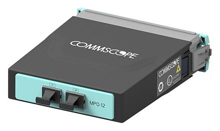 Модуль G2 ULL OM4 LazrSPEED® 500, 3xMPO8(m) - 2xMPO12(f), цвет: бирюзовый