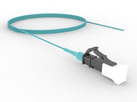 LC-полушнур LazrSPEED® 550, Тип волокна: OM4, Буфер: плотный, цвет разъёма: Бежевый, Длина м.: 1.5