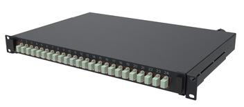 Выдвижная коммутационная панель 24xLC/UPCDuplex бежевого цвета, Глубина: 300 мм, цвет: чёрный