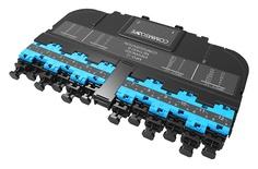 Модуль EHD ULL 12LC Duplex/2xMPO12(f), OM4 LazrSPEED® 550, выравнивающие штырьки: нет, пылезащитные заглушки: да, цвет: бирюзовый