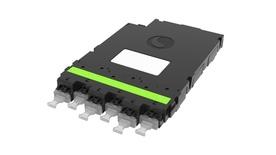 Модуль CHD ULL OM5 6xLC Duplex - 1xMPO12(f) Method B Enhanced, key up, Цвет: lime