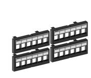 Комплект из 4 модулей для неэкранированных гнёзд SL к панели 760238657
