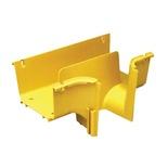 Отвод вниз (downspout) от FiberGuide® 150х100 к стойке OMX, цвет: жёлтый