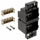Комплект из 2 блоков AMP CO™ для установки в панели. Cat.6, экранирование: нет, цвет: чёрный