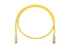 Коммутационный шнур Cat.6A S/FTP, калибр: AWG30, оболочка: LSZH, цвет: жёлтый, длина м: 1