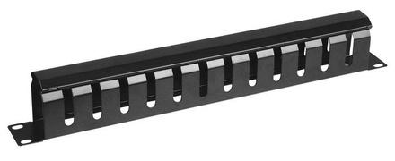 Горизонтальный органайзер 1RU, конструкция: перфорированный короб