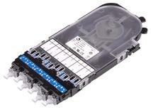 Кассета CHD ULL OS2 G.657.A2 6xLC Duplex в комплекте с ленточными пигтейлами и поддоном, Method A, цвет: синий