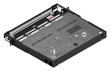 Коммутационная панель серии EPX фиксированная закрытая, до 4 модулей G2, до 48 LC Duplex, высота: 1RU