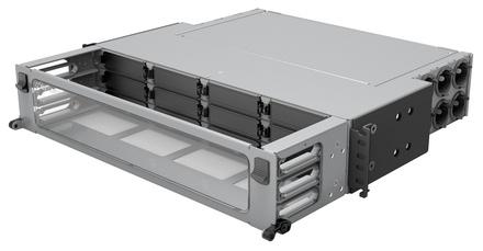 Коммутационная панель Systimax Ultra High Density 2RU до 12 модулей G2, до 144 LC Duplex или до 96 MPO, с фронтальным кабельным органайзером