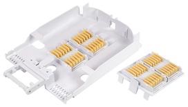 Поддон FOST для сварки до 288 волокон в лентах или 48 отдельных волокон. Совместим со шкафами FEC и SD-4RU-Splice Panel