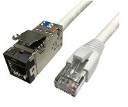 Экранированный претерминированный кабель UTP RJ45 гнездо/RJ45 вилка,Cat.6A, Оболочка: LSZH, EuroClass: B2ca, диаметр: 7.01, -20-+60 град.