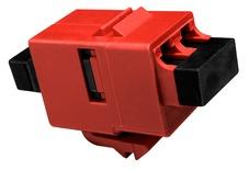 Вставка SL-типа: соединитель LC Duplex SECURE - LC Duplex стандарт, Тип: SM/MM, Цвет: красный