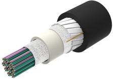 Универсальный оптический кабель, кол-во волокон: 288, Тип волокна: G.657.A2/B2, конструкция: ленты волокон Rollable Ribbon в общей трубке, полоски из фибергласа, изоляция: UV stabilized NEC OFNR-LS (ETL) and c(ETL), EuroClass: B2ca, диаметр: 12,5 мм, -40 - +70 град., Цвет: чёрный