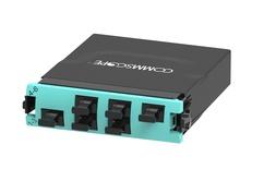 Модуль G2 MPOptimate® OM4 LazrSPEED® 550 6xMPO8(m) - 2xMPO24(f) Method A Pair Straight, шторки: нет, цвет: бирюзовый