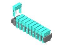 Магазин с 10 держателями штырьков (PIN EXCHANGER), MALE, MTP PRO