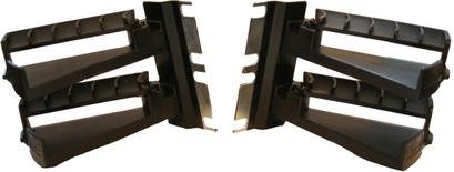 Комплект из двух кабельных организаторов AMP Hi-D высотой 2RU
