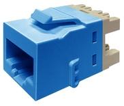 Гнездо RJ45 серии KJ510 Cat.5e, UTP, цвет: синий