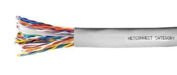Кабель 25-парный UTP Cat.3 24 AWG, диаметр: 10, оболочка: PVC CMR Rated, цвет: серый, -20-+60 град., уп.: катушка 305 м