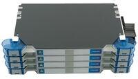 Шасси FACT™ Splice-Patch 96xSC/APC SM и B-grade пигтейлы, поддон для гильз SMOUV, организация кабеля: right-hand patch, цвет: серый, высота: 4E=2.8RU