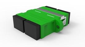 Адаптер SC/APC Duplex, втулка: керамика, цвет: зеленый