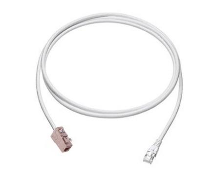 Экранированный претерминированный кабель гнездо RJ45 AMPTWIST-6S/RJ45 вилка,Cat.6a, оболочка: LSZH, -20-+60 град., цвет: белый, длина м: 15