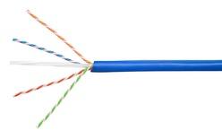 Кабель 4-парный U/UTP Cat.6A, 23 AWG, оболочка: LSZH, EuroClass Dca, диаметр: 7,24, NVP 66%, -20-+60 грд, цвет: синий, уп.: катушка 305 м