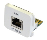 Адаптерная вставка AMP CO™ Plus Cat.6a RJ45 10 GigAEit Ethernet, цвет: миндальный (RAL 9013)