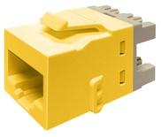 Гнездо KJ10G jack, Cat.6A, раскладка пар: T568A/T568B, solid: 22AWG-24AWG, stranded: 24AWG-26AWG, диаметр кабеля мм: 7,24, цвет: жёлтый