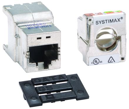 Экранированное гнездо RJ45 серии GigaSPEED X10D® HGS620, Cat.6A, цвет: металл, эко уп-ка шт.: 24