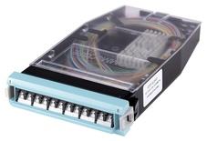 Кассета G2 OM4 6хLC Duplex с держателем сплайсов, с пигтейлами, цвет: бирюзовый