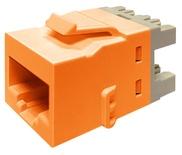 Гнездо KJ10G jack, Cat.6A, раскладка пар: T568A/T568B, solid: 22AWG-24AWG, stranded: 24AWG-26AWG, диаметр кабеля мм: 7,24, цвет: оранжевый